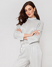 Rut&Circle Stella Pleat Pant silver