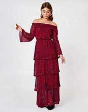 NA-KD Trend Off Shoulder Frill Maxi Dress