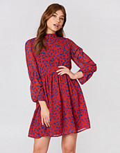 NA-KD Boho High Neck Balloon Sleeve Dress