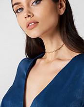 NA-KD Accessories Thin Leaves Diamond Choker guld