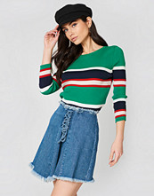 NA-KD Trend Lacing Front Denim Skirt