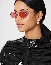 NA-KD Accessories Oval Metal Sunglasses rosa