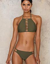 Hot Anatomy Army Green Sporty High Neck Bikini Set - Panty
