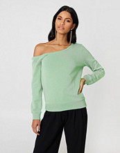 NA-KD Basic One Shoulder Sweater grön