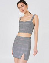 NA-KD Trend Checkered Mini Skirt