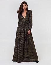 Twinset Abito Nero Oro Maxi Dress