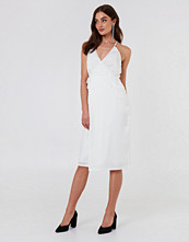 Rut&Circle Haley Wrap Dress vit