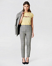 NA-KD Classic High Waist Checkered Suit Pant grå multicolor