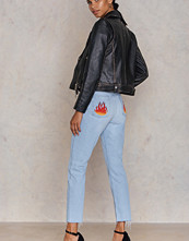 NA-KD Flame Back Pocket Jeans