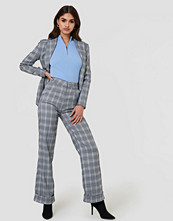 NA-KD Classic Checkered Tapered Pants - Byxor