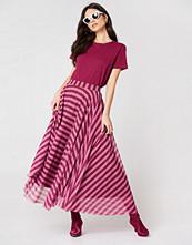 NA-KD Striped Mesh Skirt - Maxikjolar