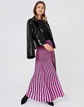NA-KD Trend Striped Knitted Skirt - Maxikjolar