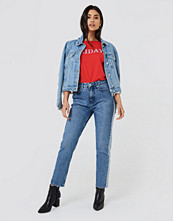 NA-KD Trend Two Tone Side Panel Jeans