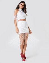 NA-KD Boho Fringe Lace Skirt - Minikjolar
