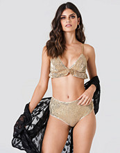 NA-KD Lingerie Sequins High Waist Bottom guld