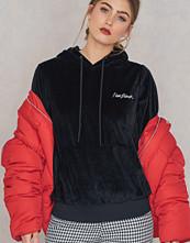 New Black Velour Hood