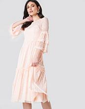 Trendyol Dot Lace Midi Dress