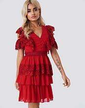 Trendyol Buttoned Lace Mini Dress