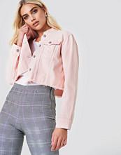 NA-KD Trend Raw Hem Short Denim Jacket