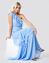 Trendyol One Shoulder Maxi Dress blå