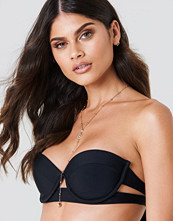 J&K Swim X NA-KD Side Cut Bikini Top svart