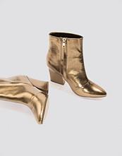 NA-KD Shoes Metallic Mid Heel Boots