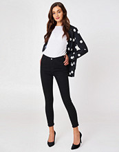 NA-KD Highwaist Skinny Fray Hem Jeans