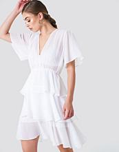 NA-KD Boho Triple Layer Flounce Dress