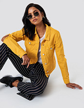 NA-KD Trend Cut Out Sleeve Denim Jacket