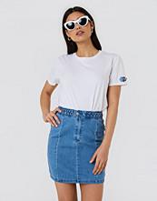 NA-KD Braid Denim Skirt - Minikjolar