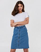 NA-KD Button Up Long Denim Skirt
