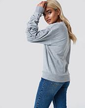 NA-KD Ruched Sleeve Sweater