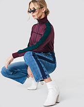 NA-KD Trend Wide Leg Side Panel Jeans