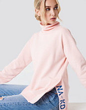 NA-KD Urban Slit Embroidery Sweatshirt
