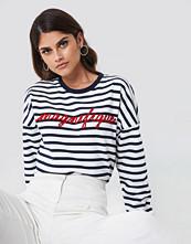 Mango Embroidered Message Sweatshirt