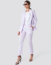 Trendyol Creased Linen Pants lila