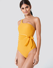 Trendyol Waist Knot Swimsuit orange