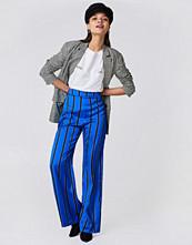 NA-KD Striped High Waist Flared Pants - Byxor