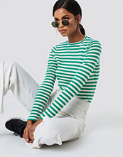 NA-KD Trend Striped Long Sleeve Top