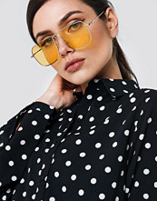 NA-KD Squared Metal Sunglasses - Solglasögon