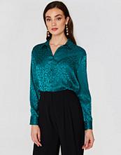 NA-KD Trend Jacquard Long Sleeve Shirt