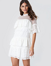 Trendyol Lace Dot Mini Dress vit