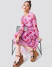 Trendyol Long Sleeve Printed Ruffle Dress