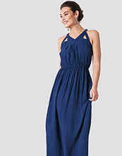 Rut&Circle Hip Long Dress blå