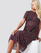 Rut&Circle Flower Mesh SS Dress - Midiklänningar
