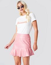 Rut&Circle Frill Pu Skirt - Minikjolar