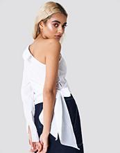 NA-KD Trend One Sleeve Tie Waist Shirt