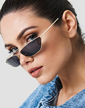 NA-KD Trapezoid Metal Bridge Sunglasses - Solglasögon