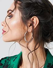 NA-KD Accessories Uneven Hoop Earrings
