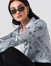 NA-KD Trend Long Sleeve Silver Printed Shirt
